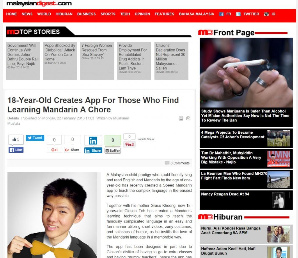2016.02.22 SpeedMandarin Malaysian Digest